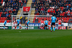 Nathan Pond of Fleetwood Town opens the scoring - Mandatory by-line: Ryan Crockett/JMP - 07/04/2018 - FOOTBALL - Aesseal New York Stadium - Rotherham, England - Rotherham United v Fleetwood Town - Sky Bet League One