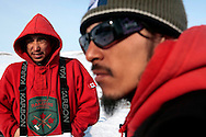 Inuit Canadian Rangers Jobi and Corey in Baring Bay (Devon Island, Nunavut) during their participation with Nunalivut 2012 sovereignty exercise by Canadian Forces in arctic Canada.