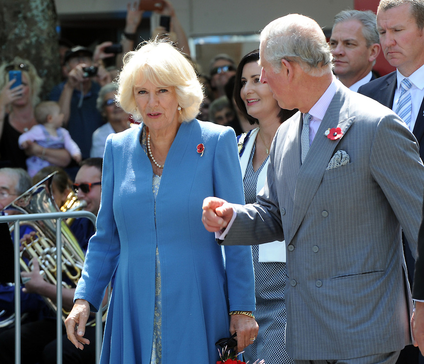 Prince Charles, Prince of Wales and Camilla, Duchess of Cornwall on their public walkabout in Nelson, New Zealand, Saturday, November 07, 2015. Credit:SNPA / Ross Setford