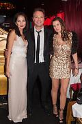YASMIN MILLS; PETE TONG;  CAROLINA TONG, Pete & Carolina Tong and Yasmin Mills Christmas Party. Baroque, The Playboy Club, Old Park Lane, London. 15 December 2012.