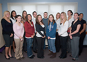 18530Councling Group photo: Students..Left to right:.Stephanie Judson, Christine Tyson, Melanie Majewski, Stephanie Orban, Sarah Skrobot, Lindsey Lowe, Shanise Butts..Back Row:.Andrea Tenhundfeld, Jen Segula, Baron Smith, Chris Dodson, Amy Saun, Jackie Nebbia, Allison Singleton