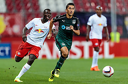 15.09.2016, Red Bull Arena, Salzburg, AUT, UEFA EL, FC Red Bull Salzburg vs FC Krasnodar, Gruppe I, 1. Runde, im Bild Dayot Upamecano (FC Red Bull Salzburg), Odil Akhmedov (FC Krasnodar) // during the UEFA Europa League, group I, 1st round match betweenFC Red Bull Salzburg and FC Krasnodar at the Red Bull Arena in Salzburg, Austria on 2016/09/15. EXPA Pictures © 2016, PhotoCredit: EXPA/ JFK