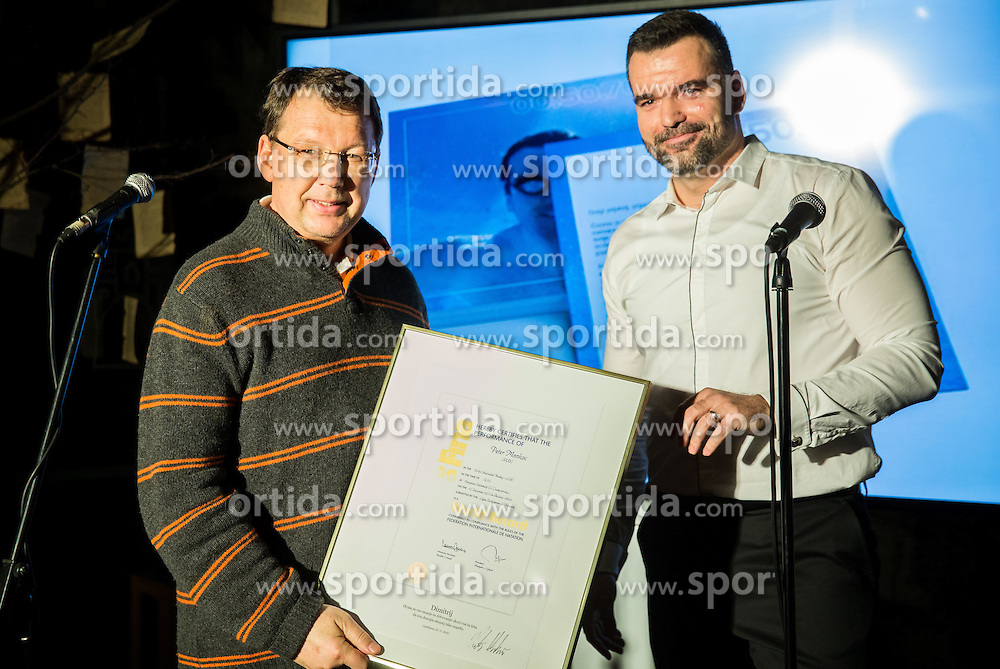 Dimitrij Mancevic at Official retirement of World records holder swimmer Peter Mankoc, on November 25, 2016 in Ljubljanski grad, Ljubljana, Slovenia. Photo by Vid Ponikvar / Sportida