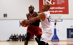 Brandon Boggs of Bristol Flyers tries to keep possession - Photo mandatory by-line: Robbie Stephenson/JMP - 17/09/2016 - BASKETBALL - SGS Wise Arena - Bristol, England - Bristol Flyers v Worcester Wolves - Exhibition Game