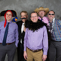 "Friends enjoying our ""open air"" photo booth. This is included in all of our wedding packages. Your guest can have free formals and lots of fun!! Everyone gets involved."
