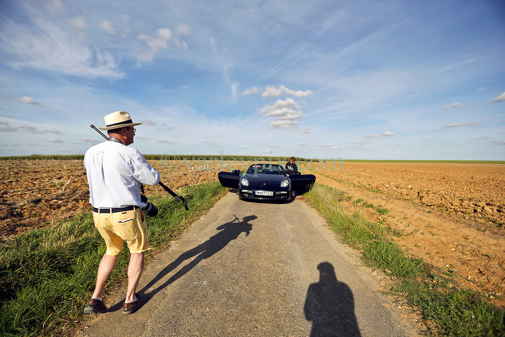 02 Sept 2019. St Denoeux, Pas de Calais, France.<br /> Messing about with cars. Photo shoot with Ben in the Porsche Boxter.<br /> Photo©; Charlie Varley/varleypix.com