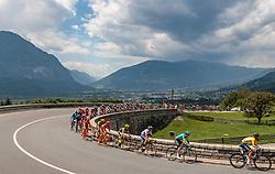 07.07.2017, St. Johann Alpendorf, AUT, Ö-Tour, Österreich Radrundfahrt 2017, 5. Kitzbühel - St. Johann/Alpendorf (212,5 km), im Bild Peloton, Feature, Stefan Denifl (AUT, Aqua Blue Sport) // Peloton, Feature, Stefan Denifl (AUT, Aqua Blue Sport) during the 5th stage from Kitzbuehel - St. Johann/Alpendorf (212,5 km) of 2017 Tour of Austria. St. Johann Alpendorf, Austria on 2017/07/07. EXPA Pictures © 2017, PhotoCredit: EXPA/ JFK