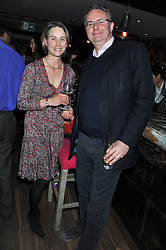 WILLIAM CASH and LAURA SITWELL at a party to celebrate the publication of A History of Food in 100 Recipes by William Sitwell held at Archer street, 3-4 Archer Street, London W1 on 11th April 2012.