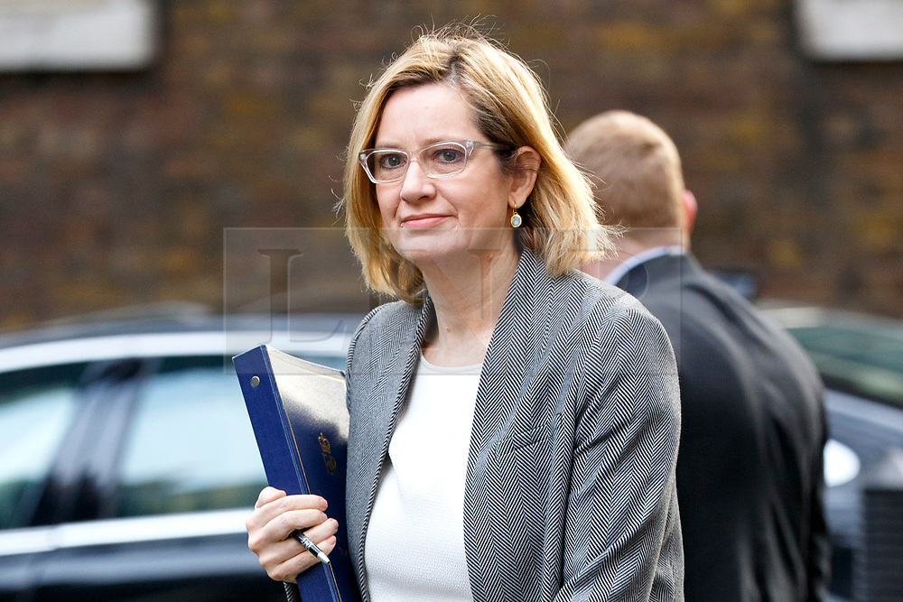 © Licensed to London News Pictures. 29/03/2017. London, UK. Home Secretary AMBER RUDD attends a cabinet meeting in Downing Street, London on Wednesday, 29 March 2017 as Prime Minister Theresa May triggers article 50 and starts Britain's departure from the European Union. Photo credit: Tolga Akmen/LNP
