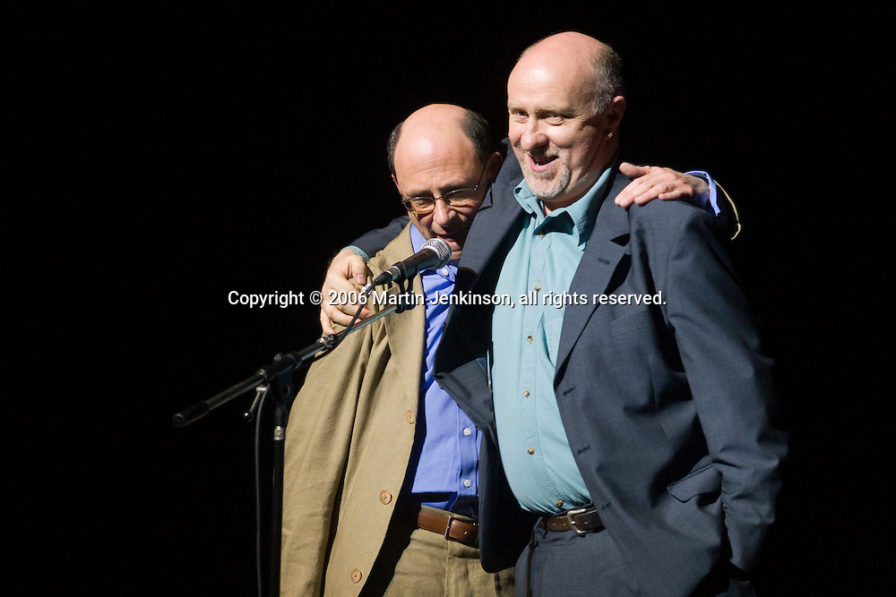 Warren Lakin & Mike McCarthy at In praise of an English radical - A Celebration of Linda Smith, Lyceum Theatre Sheffield.