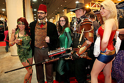 29 Jan 2012. New Orleans, Louisiana USA. <br /> Comic book characters gather at the Wizard World New Orleans Comic Con at the Ernest N Morial Convention Center. <br /> Photo; Charlie Varley/varleypix.com