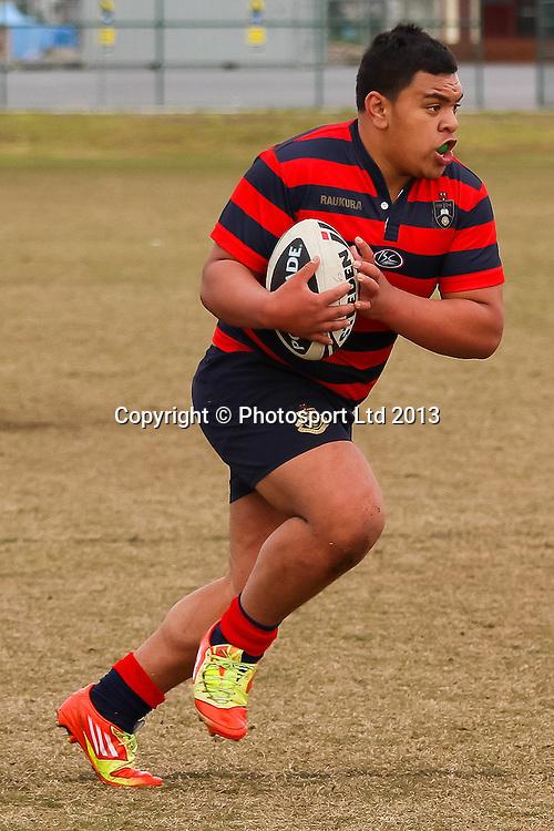 Rotorua's John Masters, Rotorua Boys v James Cook High, National Secondary Schools Rugby League - Day 3, 4 September 2013. Photo: David Joseph / photosport.co.nz