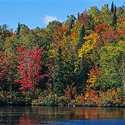 Fall colors. Saint Adele, Quebec. Canada.