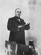 William McKinley (1843-1901) 25th president of USA from 1896 making a speech during his election campaign.