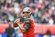 Tampa Bay Buccaneers QuarterbackJ ameis Winston (3) looks to pass during the International Series match between Tampa Bay Buccaneers and Carolina Panthers at Tottenham Hotspur Stadium, London, United Kingdom on 13 October 2019.