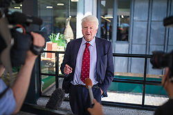 © Licensed to London News Pictures. 23/07/2019. London, UK. Stanley Johnson, father of Boris Johnson, arrives for the result of the Conservative Party leadership race. Boris Johnson has been elected as Leader of the Conservative Party and will become the next Prime Minister. Photo credit: Rob Pinney/LNP