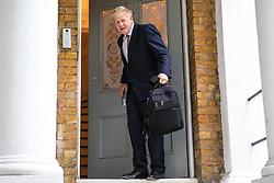 © Licensed to London News Pictures. 07/06/2019. London, UK. Boris Johnson MP leaves home in London. The Conservative MP is running to become the next Leader of the Conservative party. Photo credit: Rob Pinney/LNP