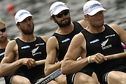 2006 FISA World Cup; Lucerne; SWITZERLAND; 08.07.2006, NZL M4-, Bow Selwyn CLELAND, Carl MEYER, Hamish BOND, Eric MURRAY. Photo; Peter Spurrier/Intersport Images email images@intersport-images.com[Mandatory Credit Peter Spurrier/Intersport Images... Rowing Course, Lake Rottsee, Lucerne, SWITZERLAND.