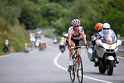 Kasia Niewiadoma (Rabo Liv) escapes solo at Giro Rosa 2016 - Stage 6. A 118.6 km road race from Andora to Alassio, Italy on July 7th 2016.
