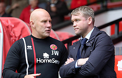 Peterborough United Manager Grant McCann talks with Walsall manager Jon Whitney before the game - Mandatory by-line: Joe Dent/JMP - 16/09/2017 - FOOTBALL - Banks's Stadium - Walsall, England - Walsall v Peterborough United - Sky Bet League One