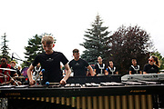 Shadow Drum and Bugle Corps warms up before a show in Fort Atkinson, Wisconsin on July 1, 2018. <br /> <br /> Beth Skogen Photography - www.bethskogen.com