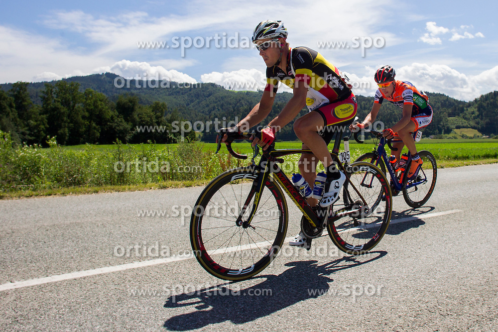 Van Hecke Preben (Belgium) of Topsport Vlaanderen - Baloise and Filosi Iuri (Italy) of Nippo - Vini Fantini during Stage 2 of 23rd Tour of Slovenia 2016 / Tour de Slovenie from Nova Gorica to Golte  (217,2 km) cycling race on June 17, 2016 in Slovenia. Photo by Urban Urbanc / Sportida