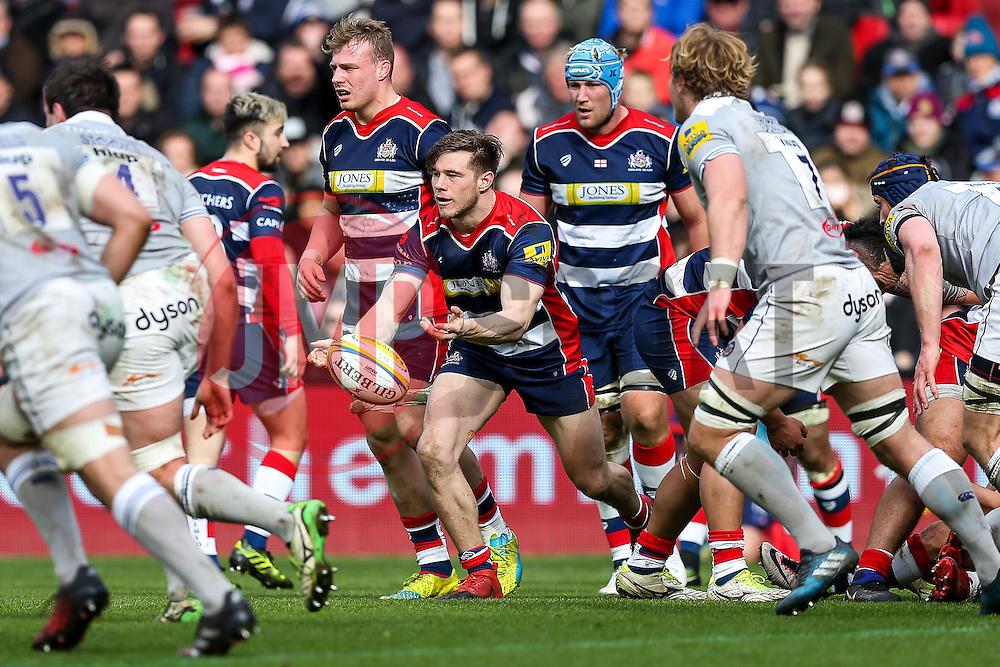 Jason Woodward of Bristol Rugby - Rogan Thomson/JMP - 26/02/2017 - RUGBY UNION - Ashton Gate Stadium - Bristol, England - Bristol Rugby v Bath - Aviva Premiership.