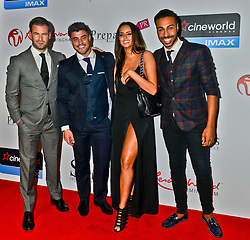 (L-R) Dean Spragg, Rogan O'Connor, Yasmin Di Christie and Nathanial Valention seen at the VIP red carpet screening of Fifty Shades of Grey at the CineWorld Birmingham. EXPA Pictures © 2015, PhotoCredit: EXPA/ Photoshot/ Jules Annan<br /> <br /> *****ATTENTION - for AUT, SLO, CRO, SRB, BIH, MAZ only*****