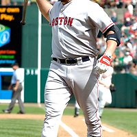 09 September 2007:  Boston Red Sox first baseman Kevin Youkilis (20) reacts to striking out to end the 3rd inning against Baltimore Orioles pitcher Jeremy Guthrie.  The Red Sox defeated the Orioles 3-2 at Camden Yards in Baltimore, MD.  ****For Editorial Use Only****