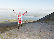 08/11/2014 repro free Tim Downing from Galway Triathlon Club on Croagh Patrick who took part in the Sea 2 Summit adventure race in Westport Co. Mayo. Photo:Andrew Downes