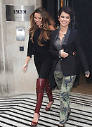 12.NOVEMBER.2012. LONDON<br /> <br /> NADINE COYLE AND CHERYL COLE LEAVING THE STUDIOS OF BBC RADIO 2.<br /> <br /> BYLINE: EDBIMAGEARCHIVE.CO.UK<br /> <br /> *THIS IMAGE IS STRICTLY FOR UK NEWSPAPERS AND MAGAZINES ONLY*<br /> *FOR WORLD WIDE SALES AND WEB USE PLEASE CONTACT EDBIMAGEARCHIVE - 0208 954 5968*