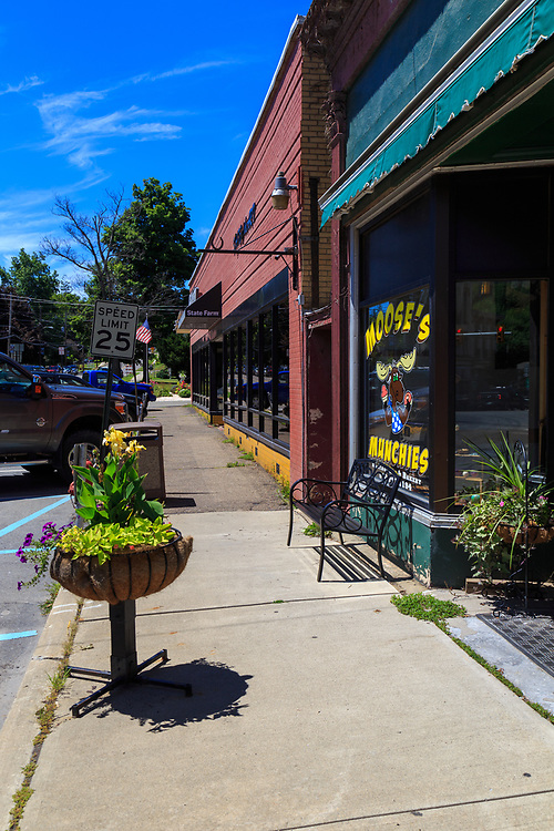 Troy, PA - July 26, 2016: Moose's Munchies on US Route 6, serves ice cream from its main street location in Troy.