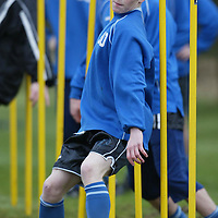 St Johnstone Training...14.02.03     Teenager Mark Baxter  during training this morning ahead of tomorrow's game v Caley Thistle<br />see story by Gordon Bannerman.  Tel 01738 553978<br /><br />Picture by Graeme Hart.<br />Copyright Perthshire Picture Agency<br />Tel: 01738 623350  Mobile: 07990 594431