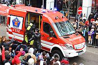 Ludwigshafen. 11.02.18 | <br /> 66. Traditioneller Fasnachtsumzug Mannheim-Ludwigshafen. Diesmal in Ludwigshafen.<br /> - Berufsfeuerwehr Ludwigshafen. 100 Jahre BF LU mit Handl&ouml;schkarre, Drehleiter, Firepocket, Fu&szlig;gruppe<br /> Bild: Markus Prosswitz 11FEB18 / masterpress (Bild ist honorarpflichtig - No Model Release!) <br /> BILD- ID 04367 |