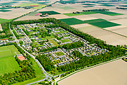 Nederland, Flevoland, Nagele, 07-05-2018; Dorp Nagele in de Noordoostpolder, bijna geheel ontworpen door moderne architecten van de zogenaamde Delftse School. <br /> Village Nagele in the Northeast polder, almost entirely designed by modern architects in the 50s. <br /> luchtfoto (toeslag op standard tarieven);<br /> aerial photo (additional fee required);<br /> copyright foto/photo Siebe Swart