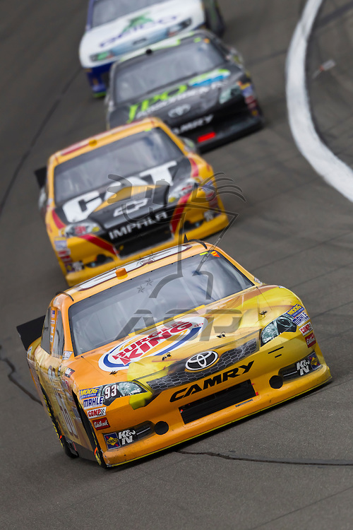 KANSAS CITY, KS - APR 22, 2012:  Travis Kavapil (93) races during the STP 400 at the Kansas Speedway in Kansas City, KS.