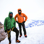 Portrait of Kevin and Todd on the West Ridge of Forbidden Peak in the North Cascades National Park