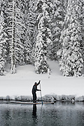 """Winter SUP on the Truckee River 10"" - Peter Spain Stand Up Paddleboarding on the Truckee River"