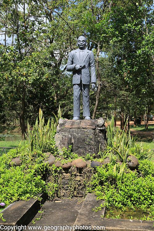 Statue of archaeologist Senarath Paranavitana, Sigiriya, Central Province, Sri Lanka, Asia