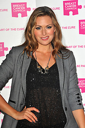 Olivia Lee attends the launch party for Breast Cancer Campaign at Tower 42, London, England, October 1, 2012. Photo by Chris Joseph / i-Images.
