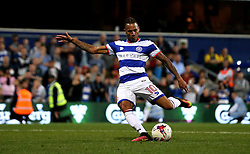 Tjarron Chery of Queens Park Rangers scores a penalty in the shoot out against Swindon Town - Mandatory by-line: Robbie Stephenson/JMP - 10/08/2016 - FOOTBALL - Loftus Road - London, England - Queens Park Rangers v Swindon Town - EFL League Cup
