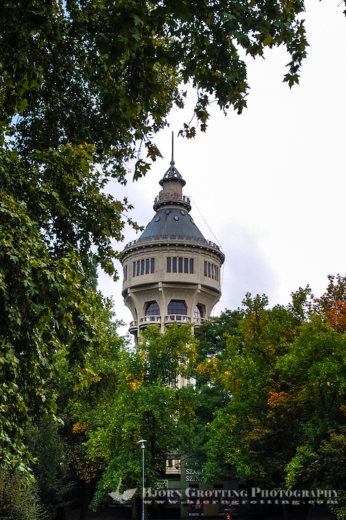 Budapest, Hungary. Water Tower on Margaret Island, built in 1911.