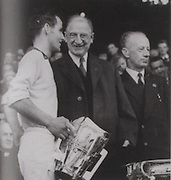 left: Waterford's captain Frankie Walsh with the McCarthy Cup.