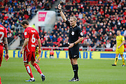 Bristol City midfielder Gary O'Neil (6) is shown a yellow card, booked during the EFL Sky Bet Championship match between Bristol City and Burton Albion at Ashton Gate, Bristol, England on 4 March 2017. Photo by Richard Holmes.