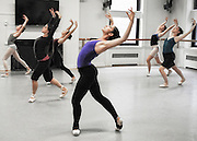 "Dancers from the Columbia Ballet Collaborative rehearse choreographer Claudia Schreier's ""Chaconne"" in the Streng Studio Barnard College, Columbia University."