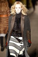 Daria Strokous walks down runway for F2012 Rag & Bone collection in Mercedes Benz fashion week in New York on Feb 10, 2012 NYC