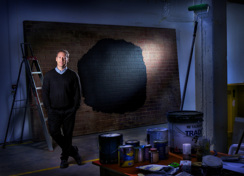 Artists series, Artist, Callum Morton in his West Melbourne Studio. Pic By Craig Sillitoe CSZ/The Sunday Age.1/10/2011 melbourne photographers, commercial photographers, industrial photographers, corporate photographer, architectural photographers, This photograph can be used for non commercial uses with attribution. Credit: Craig Sillitoe Photography / http://www.csillitoe.com<br /> <br /> It is protected under the Creative Commons Attribution-NonCommercial-ShareAlike 4.0 International License. To view a copy of this license, visit http://creativecommons.org/licenses/by-nc-sa/4.0/.