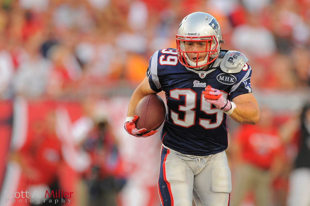 New England Patriots running back Danny Woodhead (39) during the Pats game against the Tampa Bay Buccaneers at Raymond James Stadium on Aug. 18, 2011 in Tampa, Fla...©2011 Scott A. Miller.