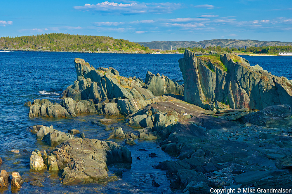 Rocky shoreline along the Atlantic Ocean. Baie Verte Peninsula.<br />
