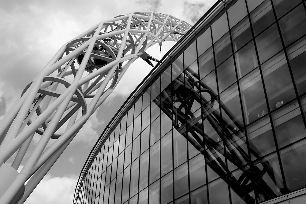 A reflection of the Wembley arch. FA Cup Final, Wembley Stadium, 20th May 2007.